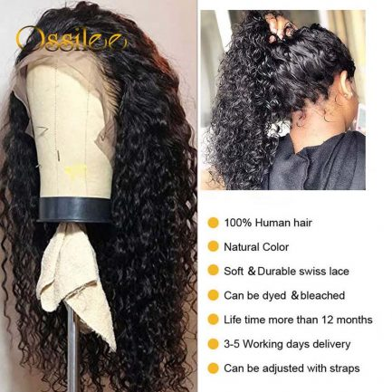 13x4/13x6 Lace Front Human Hair Wigs Remy Water Wave Wig Brazilian Curly Human Hair Wigs for Black Women 4x4 Lace Closure Wigs