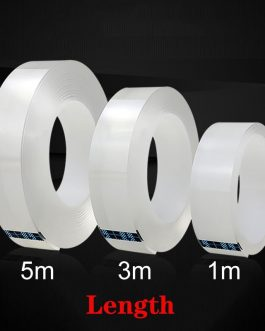 1/3/5M Double Sided Tape Nano Magic Tape Transparent No Trace Acrylic Reusable Waterproof Adhesive Tape Cleanable