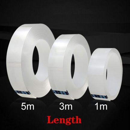 1/3/5M Double Sided Tape Nano Magic Tape Transparent No Trace Acrylic Reusable Waterproof Adhesive Tape Cleanable Drop shipping