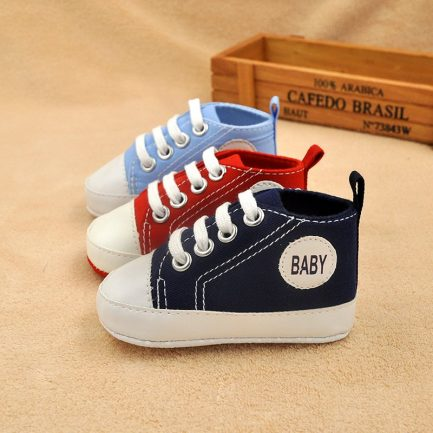 Classic Canvas Newborn Baby Boys Girls First Walkers Toddler Soft Sole Anti-slip Shoes