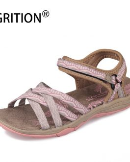 GRITION Women Sandals Fashion High Quality Summer Female Shoes Outdoor Ladies Flat Casual Sandals 2020 Anti-slip Trekking Shoes