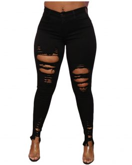 New Arrival XS-3XL Ripped Jeans Women's High Waist Loose Thin Jeans Women Pants Breeches Overalls Vintage Female Torn Trousers