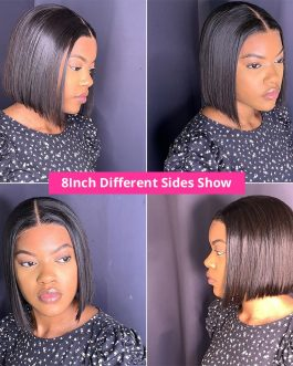 Short Bob Wigs Straight Lace Front Human Hair Wigs For Women Pre Pluck With Baby Hair 13×4 Lace Front Wig Glueless Lace Wig Remy
