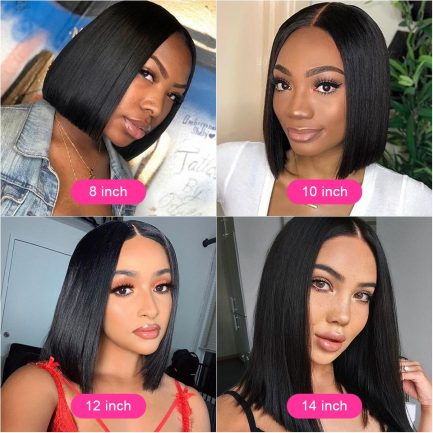 Short Bob Wigs Straight Lace Front Human Hair Wigs For Women Pre Pluck With Baby Hair 13x4 Lace Front Wig Glueless Lace Wig Remy