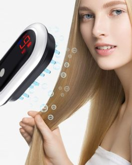Electric Head Massager Magnetic Therapy Hair Growth Comb Blue Red Light Scalp Massage Brush Relieve Fatigue Pressure LED Display